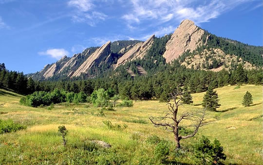 The Flatirons in Boulder, CO